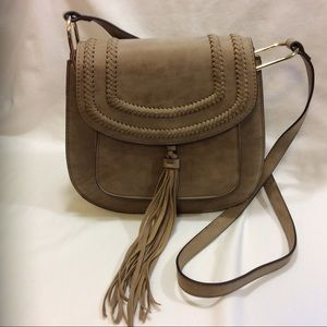 NEW FRANCO SARTO FAUX SUEDED LEATHER CROSSBODY $88
